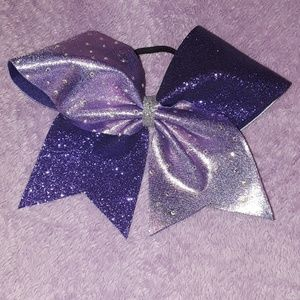 Purple Glittery & Shiny, Bedazzled Cheer Bow